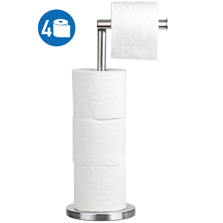 Ulable Porte-papier toilette sur pied pour salle de bain peut contenir 4 rouleaux de papier de 59,0 x 16,0 cm Noir